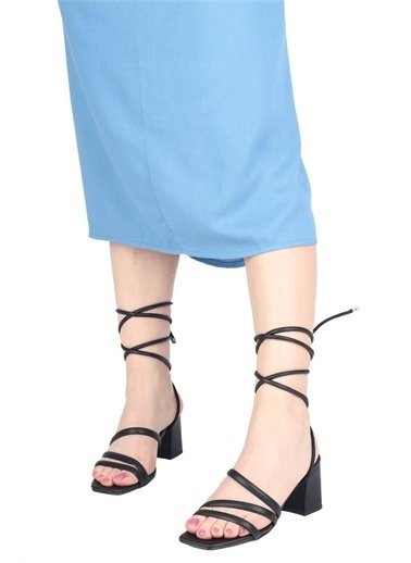 Modabuymus Modabuymus  Günlük Topuklu Sandalet Ayakkabı - FASCINATION Siyah